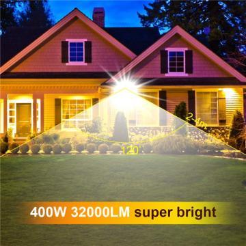 bapro 400W LED Outdoor Floodlight,Led Floodlight Super Bright, Garden Lights Cold White(6000K), IP66 Waterproof Outdoor Flood Light Wall Light Perfect for Garage, Garden,Forecourt[Energy Class A+]
