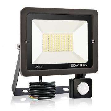 bapro 100W Security Lights with Motion Sensor,Led Floodlight Super Bright, Garden Lights Cold White(6000K), IP65 Waterproof Perfect for Garage, Garden and Forecourt[Energy Class A++]