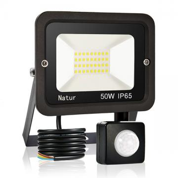 bapro 50W Security Lights with Motion Sensor,Led Floodlight Super Bright, Garden Lights Warm White(3000K), IP65 Waterproof Perfect for Garage, Garden and Forecourt[Energy Class A++]