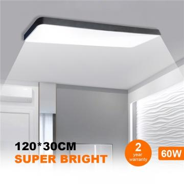 Buy Led Ceiling Panel Light 120x30cm 60w Black Body Suspended Surface Mount Ceiling Panel Drop Low Profile Design 4000k Neutral White 6000lm Flat Panel Lighting For Residential Office Shop Light